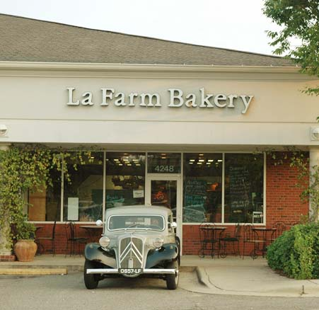 store front of La Farm Bakery in Cary, NC